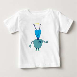 Baby t-shirt with robot design.