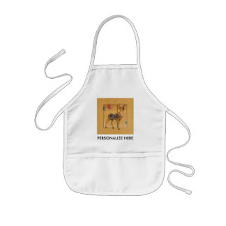 Baby t-shirts - Carousel Reindeer or Elk Kids' Apron