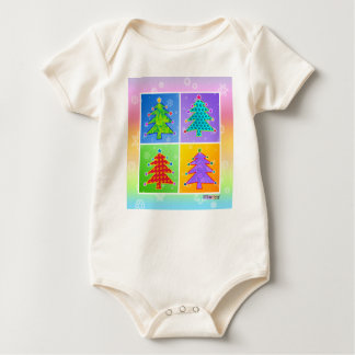 Baby T-shirts Creepers - Pop Art Christm