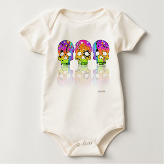 Baby T-shirts Creepers - POP ART SKULLS