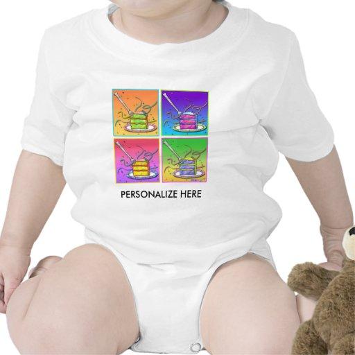 Baby T-shirts - Pop Art Cake
