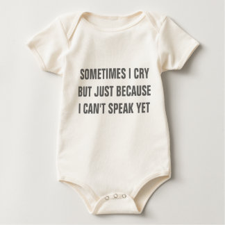 """Baby talk"" rompers"