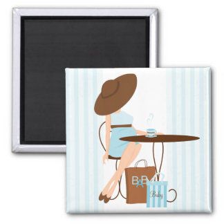 Baby Tea 2 Inch Square Magnet