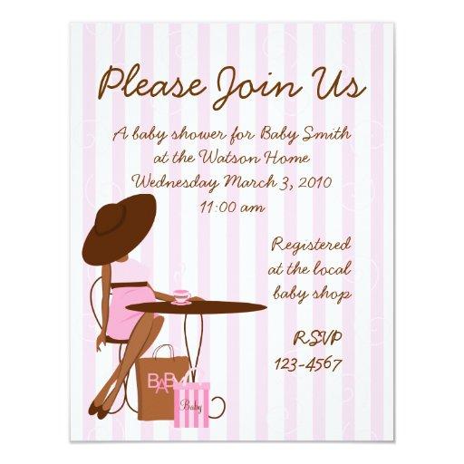 Baby Tea 4.25x5.5 Paper Invitation Card
