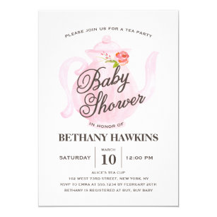 Save 60 on tea party baby shower invitations limited time only baby tea party baby shower invitation filmwisefo