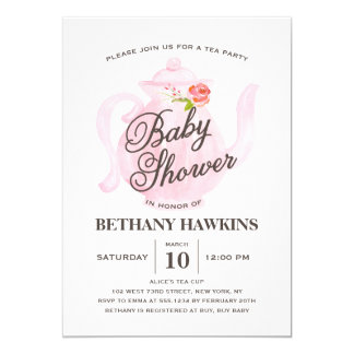 Baby Tea Party | Baby Shower Invitation