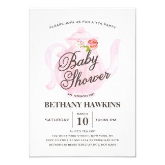 Baby Tea Party | Baby Shower Invitation
