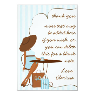 Baby Tea Thank You Note Card