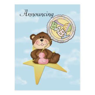 Baby Teddy Bear Rising Star Postcard