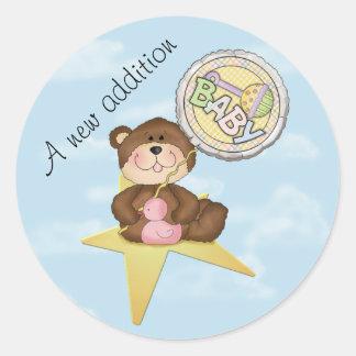 Baby Teddy Bear Rising Star Sticker
