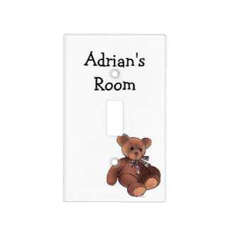 baby teddy bear toy nursery light switch cover