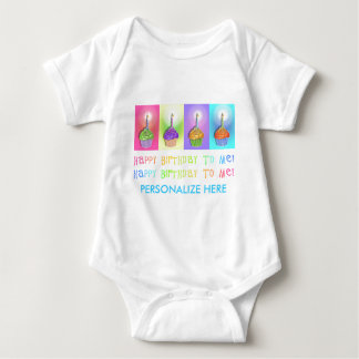 Baby Tees, Apparel - Birthday Cupcakes Baby Bodysuit