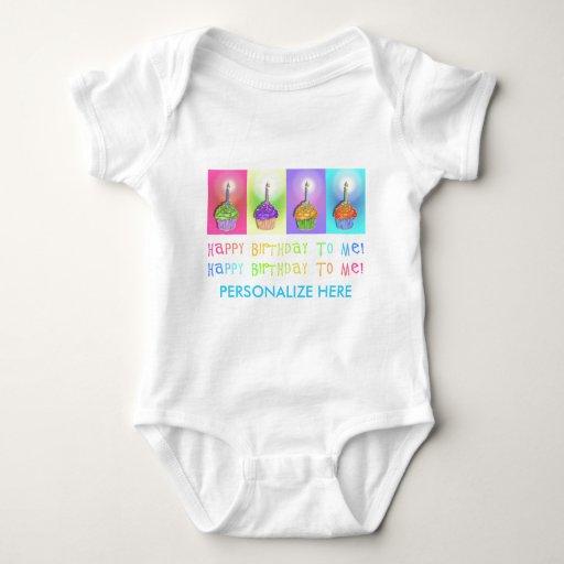 Baby Tees, Apparel - Birthday Cupcakes Infant Creeper