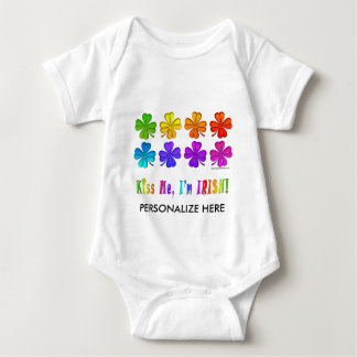 Baby Tees, Apparel - Pop Art SHAMROCKS Baby Bodysuit