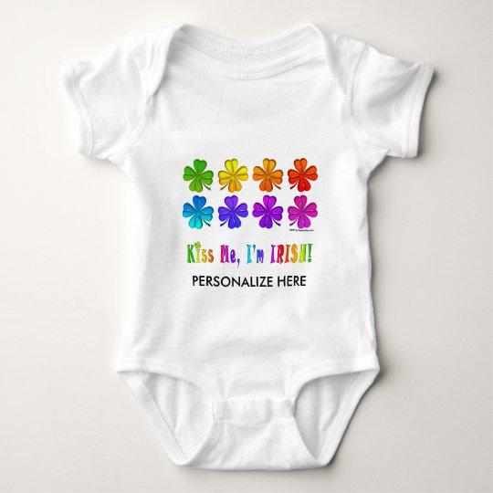 Baby Tees, Apparel - Pop Art SHAMROCKS Baby Bodysuit
