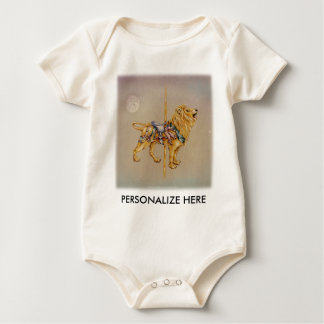 Baby Tees - Carousel Lion SQ
