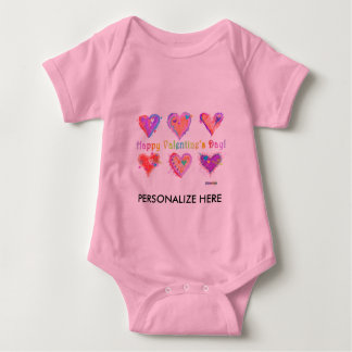, Baby Tees - Pop Art Crazy Hearts 2