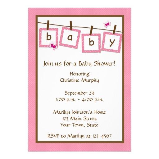 baby shower invitation text