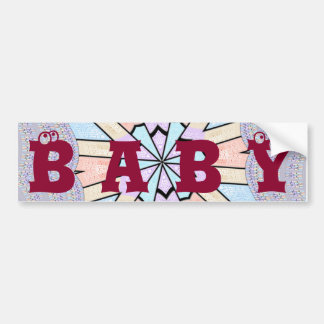 Baby Text cute amazing design art Bumper Sticker