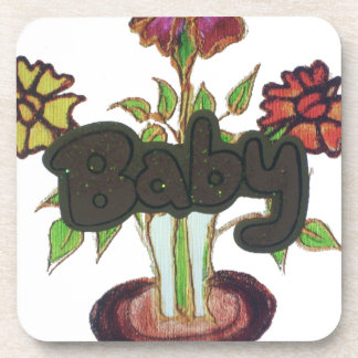 Baby text hiding plant.png drink coaster