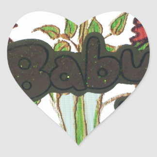 Baby text hiding plant.png heart sticker