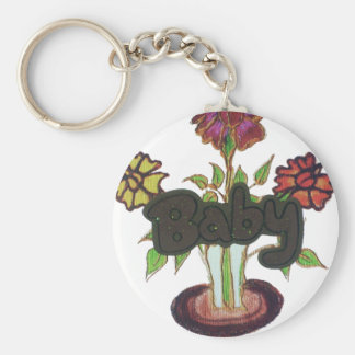 Baby text hiding plant.png keychain