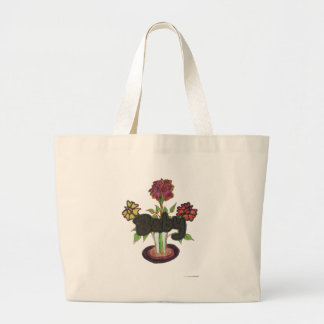 Baby text hiding plant.png large tote bag