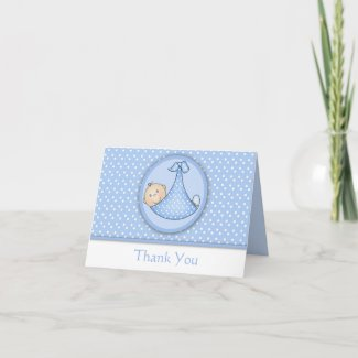 Baby Thank You Card card