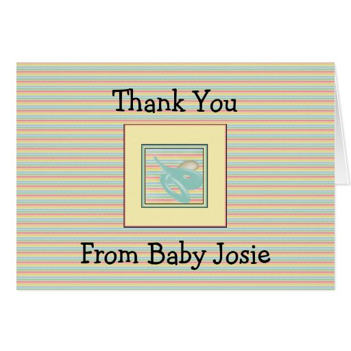 Baby Thank You Notes Template Stationery Note Card : Zazzle