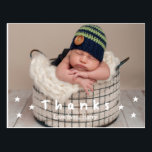 "Baby Thank You Photo Postcards<br><div class=""desc"">Send a thank you postcard for your baby&#39;s gifts,  or just to say hello. Personalize your message today.</div>"