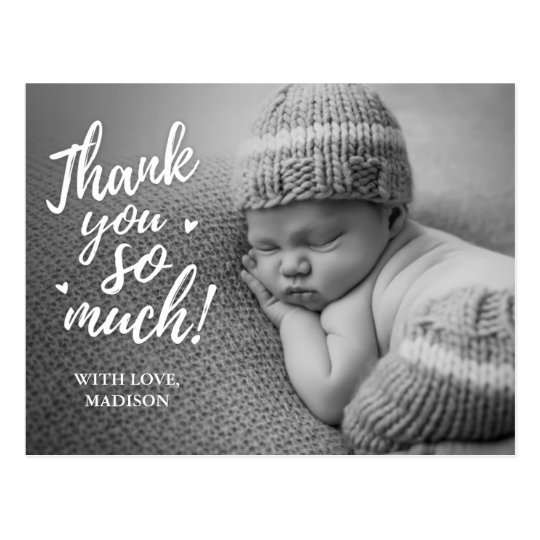 baby thank you postcards zazzle com