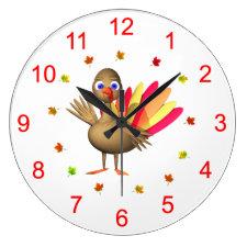 Baby Thanksgiving Turkey Round Wall Clock