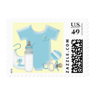 Baby Things Blue and Yellow Baby Boy Shower Postage