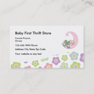 Thrift store business cards templates zazzle baby thrift store business card reheart Gallery