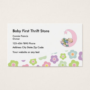 Second hand store business cards templates zazzle baby thrift store business card reheart Gallery