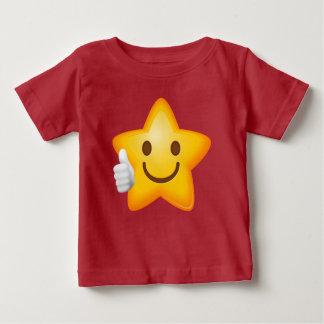 Baby Thumbs Up Emoji Star Baby T-Shirt