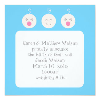 Baby Tic Tac Tots Birth Announcement - Blue
