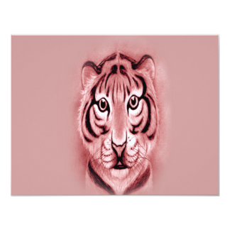 *Baby Tiger Cub* portrait Design 4.25x5.5 Paper Invitation Card