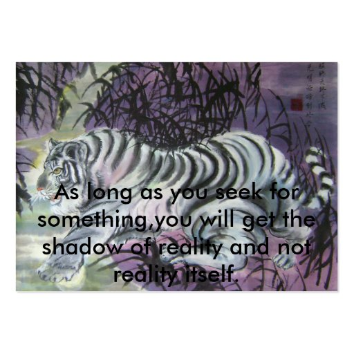 Baby tiger fetching the moon large business cards (Pack of 100)