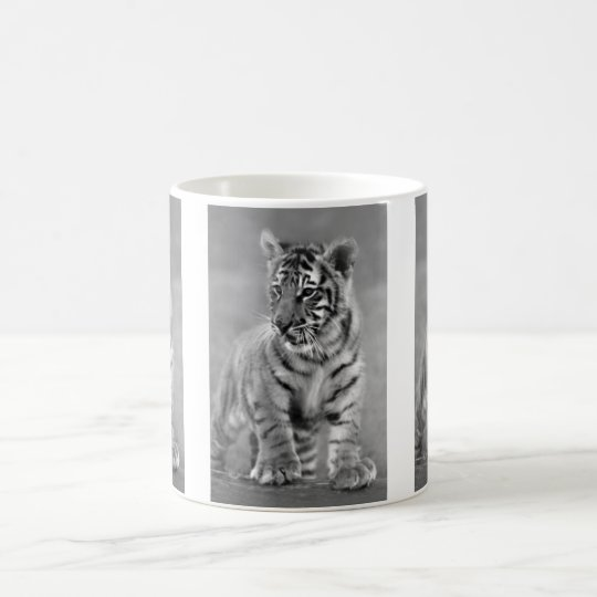 Baby Tiger in Black and white Coffee Mug