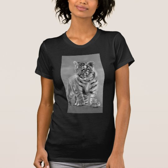 Baby Tiger in Black and white T-Shirt