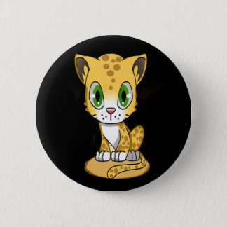 Baby Tiger Kitty Button