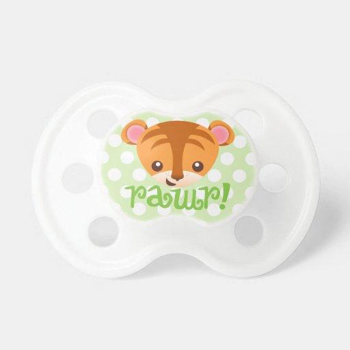 "Baby Tiger ""RAWR!"" Binky BooginHead Pacifier"