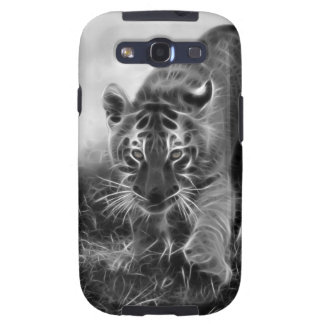 Baby Tiger stalking in Black and white Samsung Galaxy S3 Case