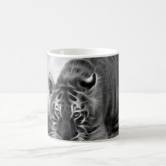 Baby Tiger stalking in Black and white Coffee Mug