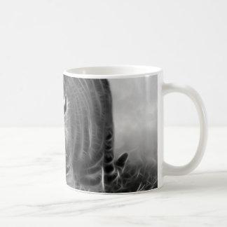 Baby Tiger stalking in Black and white Coffee Mug