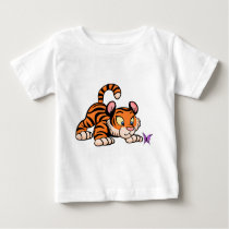 Baby Tiger with butterfly Baby T-Shirt