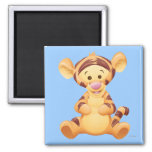 Baby Tigger 2 Inch Square Magnet