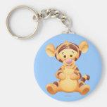 Baby Tigger Basic Round Button Keychain