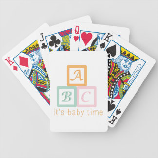 Baby Time Bicycle Playing Cards